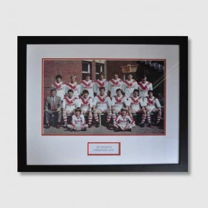 Memorabilia team photo of The St George Illawarra Dragons who won 15th NRL Premiership