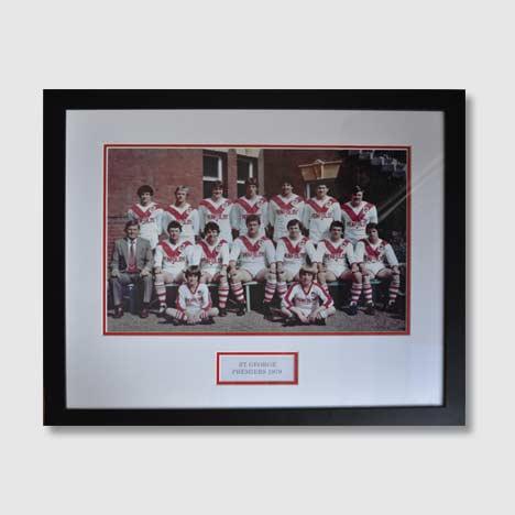 Memorabilia team photo of The St George Illawarra Dragons who won 15th NRL Premiership