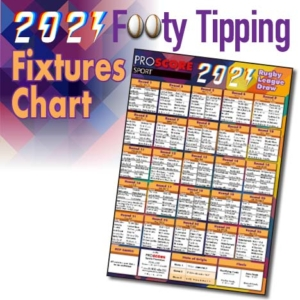 ProScore Rugby League (only) Tipping 2021 Fixtures Chart