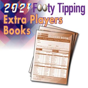 ProScore Rugby League (only) Tipping 2021 Extra Players Books